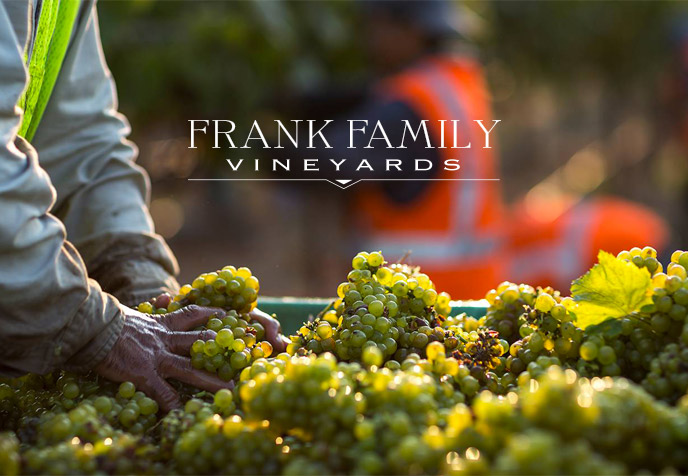 Frank Family Vineyards website screenshot